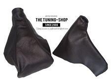 For Opel Vauxhall Omega B 94-99 Gear & Handbrake Gaiter Black Leather
