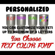 "Personalized Vinyl Decal For Your Yeti Rambler Tumbler Coldster 30oz 20oz 2""-3"""
