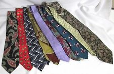 NEW Mens Lot of 3 Name Brand Silk & Other Bold & Colorful Blend Necktie Ties