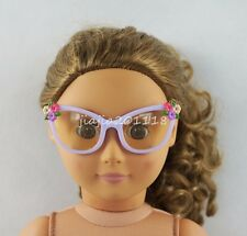 Purple Flowers Glasses Sunglasses Goggles For 18'' American Girl Dolls Gifts