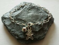 Gingerbread Man Bracelet. Winter/Christmas