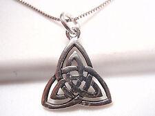 Celtic Triangle 925 Sterling Silver Pendant Corona Sun Jewelry