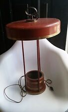 Vintage Art Deco Metal Farmhouse Cabin Table Lamp WORKS