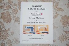 Professional Full Edition Service Manual for Singer 600 and 603 Sewing Machines.