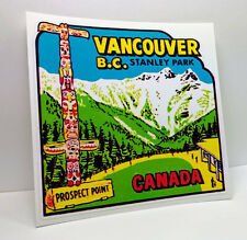 Vancouver B.C. Stanley Park Canada Vintage Style Travel Decal / Vinyl Sticker