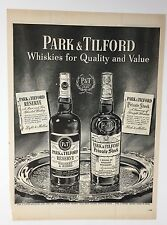 Original Print Ad 1950 PARK & TILFORD Whiskies for Quality Vintage Art P&T