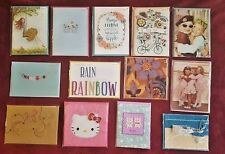 LOT of 13 PAPYRUS Cards Assorted ~ Cute Handmade, Glitter, Lined Envelopes Bella
