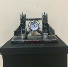 LONDON TOWER BRIDGE ORIGINAL QUARTZ CLOCK LARGE SIZE IN LONDON SOUVENIR GIFT BOX