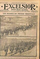 Infantry Imperial Russian Army Convoi Artillery Prussia Bzuria Poland WWI 1915