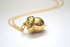 Real Acorn Necklace - Real Acorn Pendant Necklace Gold with chain.
