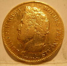 France 1834A Gold 40 Francs Louis Philippe Circulated