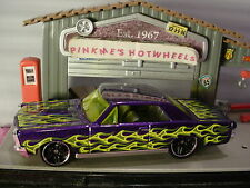 2016 Hot Wheels '65 PONTIAC GTO ✰New Purple;Yellow/Green✰Flames✰loose✰1:64