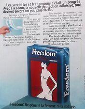 publicité de presse protection  FREEDOM de Kotex   en 1973 . 1044