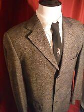 Vito Rufolo Lanificio Cessarce 42 L Gray 3 Button Blazer Sport Coat Made Italy