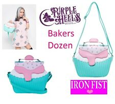 Iron Fist Bakers Dozen Pink Cupcake Pearl Detail Tote/Shoulder Bag Limited Stock