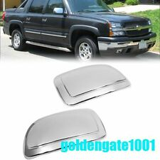 Chrome Side Rearview Mirror Cover Trim Bezel For Chevy Suburban Tahoe 2001-06 GG