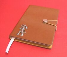 Chimney Sweep Motif Soft Touch Tan A6 Note Book Groom Usher Wedding Guest Gift