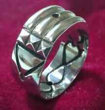 925 Sterling silver Atlantis Ring Anillo del Atlante Geometria sagrada Sello