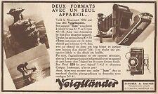Y8905 Appareil photografique Woigtlander INOS - Pubblicità d'epoca - 1932 Old ad