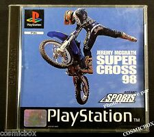 PlayStation 1 JEREMY MCGRATH SUPER CROSS 98 jeu de moto console psx ps1 ps2 pal
