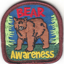 """BEAR AWARENESS"" - ANIMALS - ZOO - FOREST - WOODS - iron On Embroidered Patch"