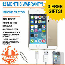 Apple iPhone 5S - 32 GB - Champagne Gold (Factory Unlocked) - Grade A Bundle
