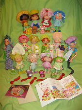 VINTAGE 1980's Strawberry Shortcake COMPLETE Second Issue 14 DOLLS & PETS Set