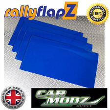 Mudflaps Universal Rally Spec Mud Flaps 300 x 500 Qty 4 Mud Flaps BLUE 3mm PVC