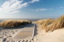 Tapete Nordseestrand Nr.410 Größe 400 x 280cm Beach Sand Strand Nordsee Himmel