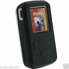 5X Black Silicone Skin Case for Sandisk Sansa Clip Zip MP3 Player Cover Holder