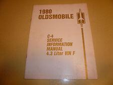 1980 Oldsmobile C-4 Service Information Manual 4.3 Litre VIN F