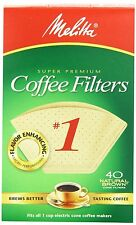 (Pack of 12) Melitta No. 1 Cone Coffee Filters Natural Brown 40-Count Filters