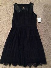 Jessica Simpson Black Lace Dress Size 6 Nwt