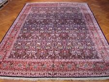 10 x 14 Hunting Design Indian Kashmir Bambo Silk Rug Wildlife Nature Decor Rugs