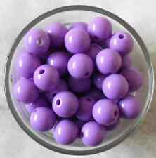 Purple Acrylic Round Spacer Loose Beads 100Pcs 8mm