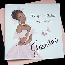 Handmade Personalised Birthday Card Daughter Niece Sister 16th 18th 21st 30th