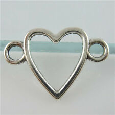 11486 50PCS Sweet Love Heart Connector Pendant Jewelry Making