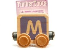 Timber Toots Name Trains Wooden Railway System Alphabet Preschool Toys Letter M