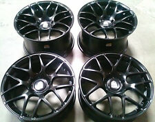 "19"" Avant Garde Ruger Mesh Wheels For Porsche C2 C2S 911 996 997 Black Rims Set"