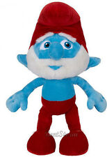 "JUMBO HUGE BIG THE SMURFS 21"" PAPA SMURF Plush Stuffed Toy Doll JAKKS RED HAT"
