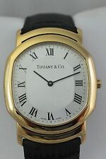 18K Yellow Gold Tiffany & Co Mark Coupe Watch original buckle, new strap, mint