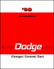 1968 Dodge Coronet Charger Dart Repair Shop Manual 270 GT GTS 440 500 RT Service