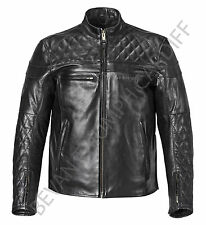TRIUMPH CUSTOM QUILTED LEATHER MOTORCYCLE JACKET MLHS16504 SIZE S FREEPOST UK
