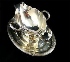Très belle saucière argent massif Minerve Hénin, Rubans Louis XVI excellent état