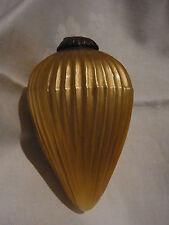 Christbaumschmuck Weihnachtsschmuck Biedermeier Glas Zapfen Lauscha Gold 18cm