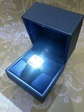ROYAL BLUE BRIDAL LED LIGHTED ENGAGEMENT RING BOX PERFECT PROPOSAL CASE