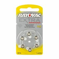 30 x Rayovac Hörgeräte-Batterien 10 Extra Advanced 1,45V 105mAh 10AU-6XEMF