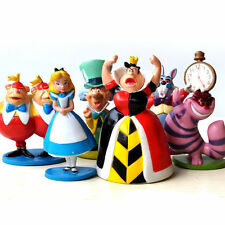 EW MINI ALICE IN WONDERLAND PVC Cake Toppers Figure Toy 6pcs a set ZH140