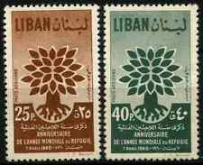 Lebanon 1960 SG#647-8 World Refugee Year 1st Printing MNH Set #D33241