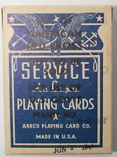 WW2 c1943 Service de Luxe Playing Cards, Distributed by the Red Cross